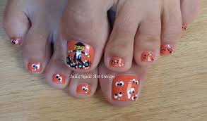 Two toe art design in one video Toes Art Design Funny Pumpkin and ...