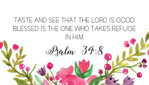 Image result for Psalm 34:8