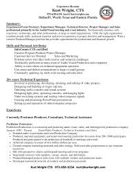 sound engineer resume. audio visual technician resume sample ...