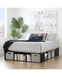 queen platform bed frame with storage. Modren With South Shore Flexible Queen Platform Bed With Storage And Baskets Flexible  Black Oak And Frame M