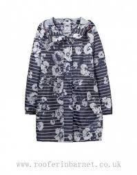 Lady Clothing - Joules New Style Joules Waterproof Pack-Away Parka Jacket -  French Navy