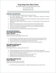 Early Childhood Education Resume Extraordinary Early Childhood Education Resume 60 Gahospital Pricecheck