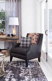 aidan leather accent chair black