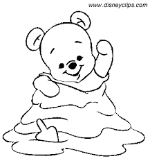 Baby Winnie The Pooh Coloring Pages Funycoloring