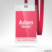 Event Badge Template Conference Badge With Name Tag Placeholder Blank Badge Template In