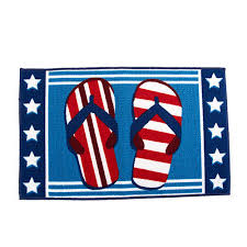 stripes and stars flip flop kitchen house accent rug 17x28 nonskid back new 99446373342