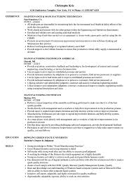 manufacturing resume sample manufacturing technician resume samples velvet jobs