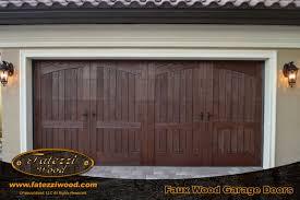 wood garage doorsFaux Wood Faux Garage Doors  FATEZZI WOOD INC