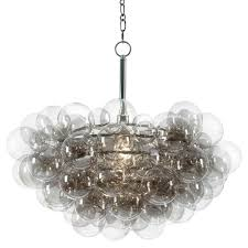 clear glass bubble chandelier sima modern floating glass bubbles clear grey chandelier kathy kuo home