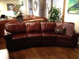 curved leather sofa21