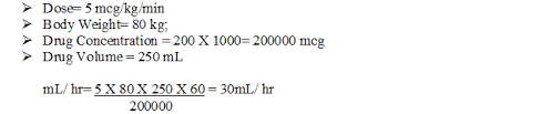 Nitroglycerin Infusion Rate Chart Drug Calculations Mg Kg Mcg Kg Min Maryvincyrn