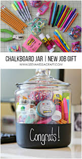 diy office gifts. chalkboard congratulations office supply jar perfect for a new job gift diy gifts
