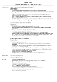 Engineer Validation Resume Samples Velvet Jobs