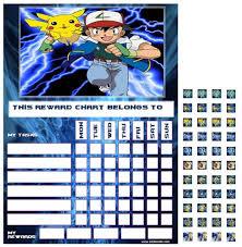 Pokemon Good Behaviour Reward Task Chart With Reusable
