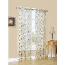 Style Selections Arcadia 84-in Antique Polyester Rod Pocket Sheer Single  Curtain Panel