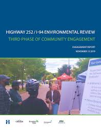 Highway 252/I-94 Environmental Review - Engagement Report Round 1