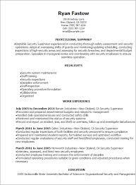 resume templates security supervisor resume supervisor resume templates