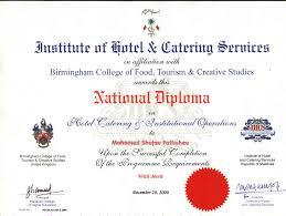 curriculum vitae b tec national diploma certificate