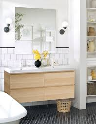 love this ikea morgon vanity sink the lighting backsplash and maybe the wall to separate toilet a little