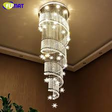 awesome fumat modern led k9 crystal chandeliers for living room hotel stairs for wine glass