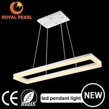 chandelier style modern ceiling light square led pendant light acrylic