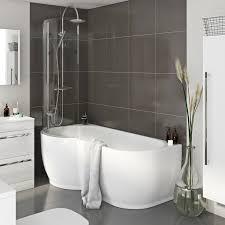 cute bathroom suites for small bathrooms maine p shaped freestanding shower bath u0026 6mm screen lh