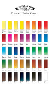 Winsor And Newton Watercolour Cotman Colour Chart Google