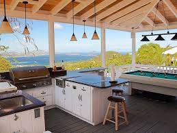 cruz bay villa al spectacular views from the outdoor kitchen billiard porch