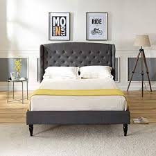 Upholstered platform bed frame Contemporary Image Unavailable Classic Brands Amazoncom Classic Brands Decoro Brighton Upholstered Platform Bed