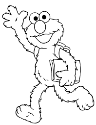 Small Picture Elmo Goes To School Coloring Page Free Printable Coloring Pages