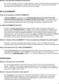 professional skills to develop list resume format guidelines pdf