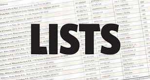 Image result for lists