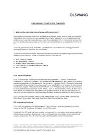 Contract Forms For Construction Introductory Note On International Construction Contracts
