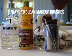 3 ways to clean makeup brushes