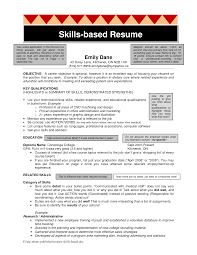 Skill Based Resume Example Examples Of Resumes