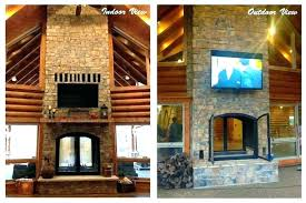 two sided fireplace indoor outdoor double fireplaces custom see through wood burning kit i