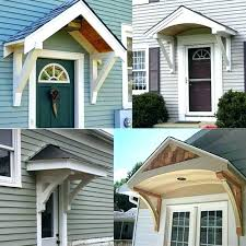 exterior door awning front door awnings wood contemporary awning ideas canopy house pertaining to exterior front