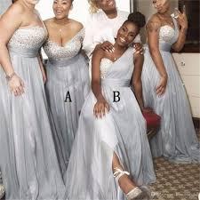 Mismatched Bridesmaid Dresses Long 2019 Silver Beaded A Line Wedding Party Dresses Vestido De Novia After Six Bridesmaid Dresses Aqua Bridesmaid