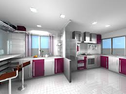 Kitchen Decoration Good Looking Modern Purple Kitchen Decoration Using Modern Purple