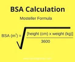 Dubois Body Surface Area Chart Body Mass Index And Body Surface Area Whats The Difference