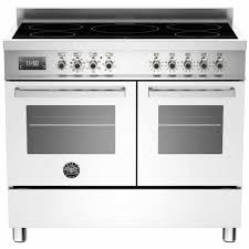 induction range double oven. Modren Induction Bertazzoni Pro 100 Induction Range Cooker  WhiteStainless Steel To Double Oven Y