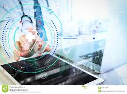 Digital Medical Chart Medical Technology Concept Doctor Hand Working With Modern