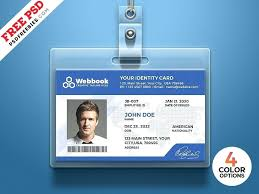 Office Free Security Download By Id Photo Template Identity Freebies Card Set