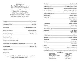 sample wedding program wording sample church program church wedding wedding program free sample