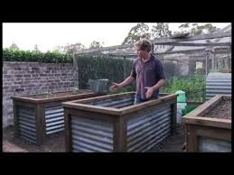 corrugated metal raised garden beds. Chris Francis Presents A Method Of Constructing Group Raised Vegie Beds. - YouTube Corrugated Metal Garden Beds