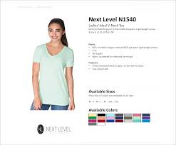 N1540 Next Level Ladies Ideal V Neck Tee American Icon