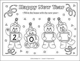 Small Picture New Years Coloring Pages