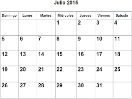 Calendario De Julio 2015 En Pdf Para Imprimir