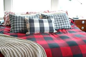 buffalo check duvet cover pottery barn