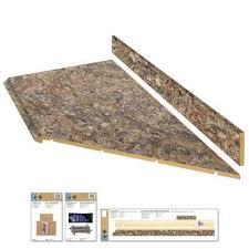 laminate countertop kit with right miter in winter carnival granite with valencia edge